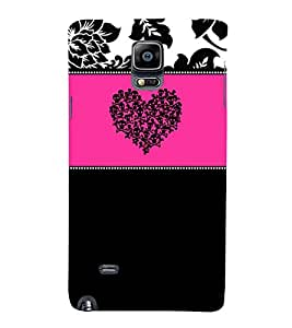Danger Love Symbol 3D Hard Polycarbonate Designer Back Case Cover for Samsung Galaxy Note 4 N910 :: Samsung Galaxy Note 4 Duos N9100