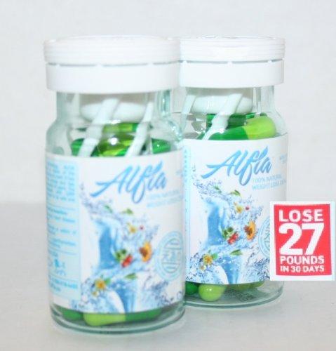 Alfia 100% Natural Weight Loss Capsules 30 capsules (PACK OF 2)