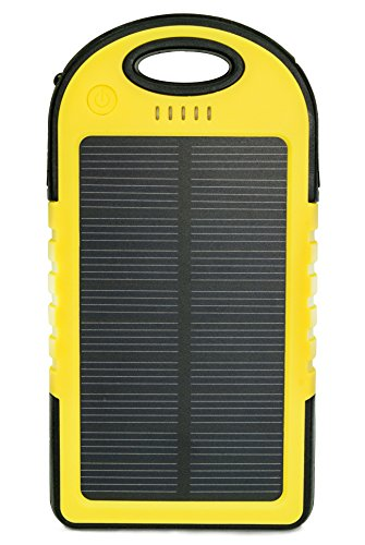 hsini Solar Power Cell Phone Battery Charger for Apple iphone ipad ipod Samsung Galaxy – Retail Packaging – Yellow