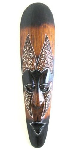 African Wall Mask Wall Decor, Fire Mask Tribal Lucky In Love Woman - LARGE 20