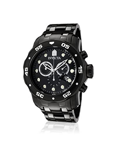 Invicta Men's 0076 Pro Diver Collection Black Ion-Plated Stainless Steel Watch