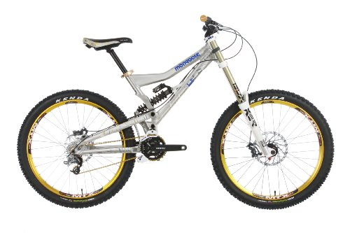 Mongoose Boot'r Foreman gloss billet grey (2011) (top tube length: 59 cm) downhill full suspension