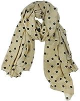 Womdee Fashion Charming Beautiful Beige Polka Dot Warm Scarf With Womdee Accessory