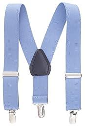 Albert's Baby/Kids Solid Color Elastic Adjustable Wedding Suspenders (30'', Light Blue)