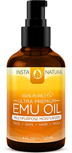 InstaNatural 100% Pure Emu Oil - For Hair Growth,