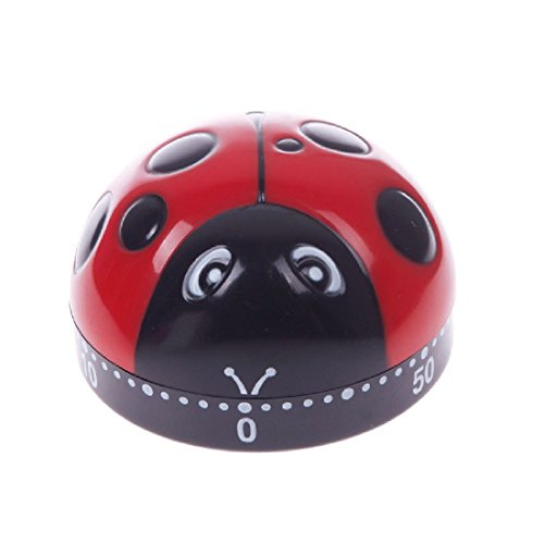 Lovely 60 Minute Ladybug Timer Easy Operate Kitchen Useful Cooking Ladybird Shape (Kitchen Timer Bird compare prices)