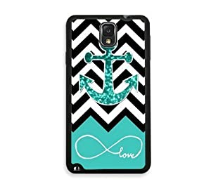 Infinite Love Teal Glitter Anchor Rubber Custom Durable Fashionable Perfect Design High Quality TPU Silicone Case Cover Skin angelinajuli Rubber iPhone 6 at Gotham City Store