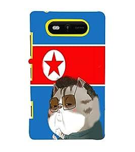 EPICCASE Kim jong cat Mobile Back Case Cover For Nokia Lumia 820 (Designer Case)