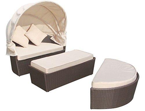 Lounge Insel Monaco Gartenmöbel Set Sonneninsel Sitzgruppe