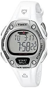 Timex Sport Ironman Midsize Digital Watch with LCD Dial Digital Display and White Resin Strap T5K515SU