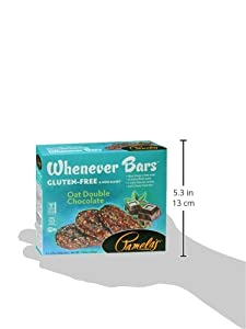 Pamela's Products Wheat Free & Gluten Free Whenever Bars, 5 Cout Box, 7.05-Ounce (Pack of 6)