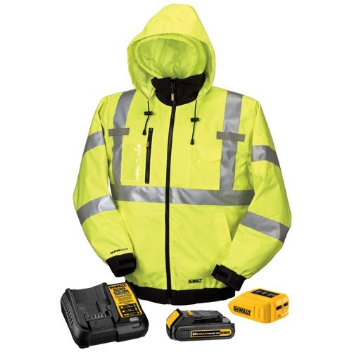 Dewalt Dchj070C1-L 20V/12V Max High-Vis Heated Jacket Kit, High-Vis, Large