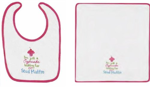 Bib&burp Cloth, Cupcake For Muffin - 1