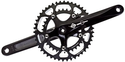 Origin8 CX-700 Cross Crankset – 175 x 46-34, Square Taper, Black (22871JB)