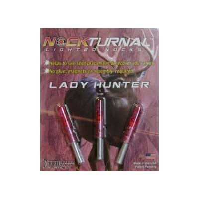 Nockturnal Gt Lighted Nocks (Pack Of 3), Pink