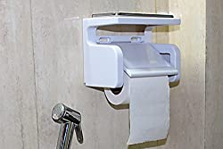 Kitchen / Bathroom Toilet Tissue Paper Roll Holder Dispenser (With Both Self Adhesive & Screw Fitting Option)