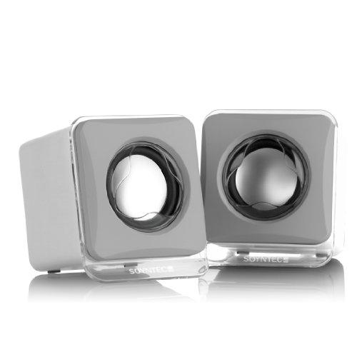 SOYNTEC Lautsprecher Voizze 150 Arctic White 3D Stereo Sound USB
