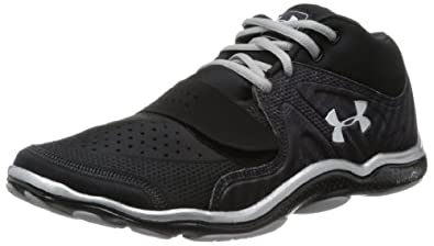 Buy Mens Under Armour Micro G Renegade Mid Running Shoe Black Black Metallic Silver by Under Armour