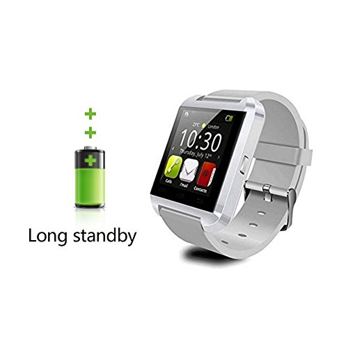 U8 Smart Watch, 007plus® Bluetooth 4.0 Fitness Smart Watch Phone for Smartphone Android Samsung S2/S3/S4/S5/S6Note 2/Note 3/Note 4/HTC Part Function for iPhone-U8 WHITE