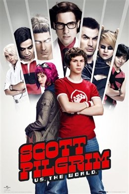 Scott Pilgrim Cast Shot Movie Poster 24 x 36 inches