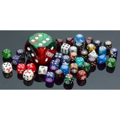 Chessex Dice: Six Sided Dice - D6 - Random Group of Six Sided Die (You Pick How Many You Want), 10 Dice