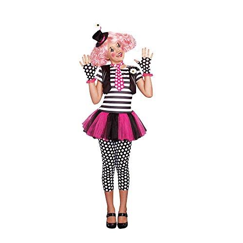 [Junior's Clownin' Around Girl Costume (As Shown;Large)] (Clownin Around Girls Costumes)