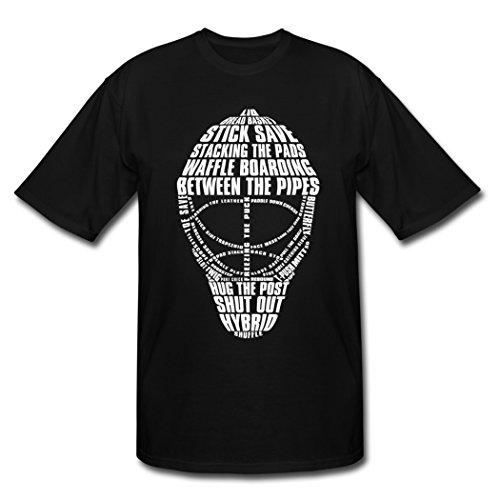 [Hugogo Funny Hot Sales Hockey Goalie Mask Black Males Shirt XXL] (Hockey Mask For Sale)