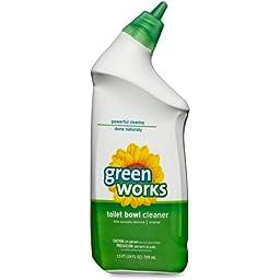 Green Works Toilet Bowl Cleaner - Liquid Solution - 24 fl oz (0.8 quart) - Original Scent - Clear