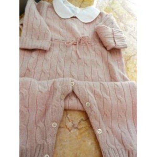For Sale Pure Cashmere, One Peace Pink Girls Baby Outfit, Large Size12-18 Month  Best Offer