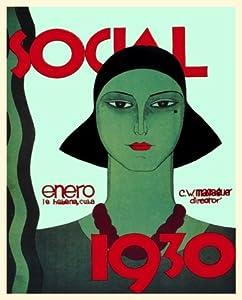 "12x18 Cuban Deco poster""1930 Massaguer Futuristic Lady"" 529"