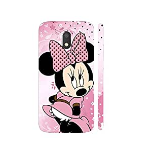 Clapcart Minnie Mouse Designer Printed Mobile Back Cover for Motorola Moto E3 / Moto E3 Power / Moto E 3rd Generation - Colorful