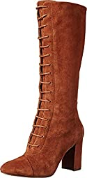 Nine West Women\'s Waterfall Suede Lace up Boot, Brown, 6.5 M US