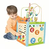 Cool Wooden Multi-Activity Cube - Cleva Edition ChildSAFE Door Stopz Bundle