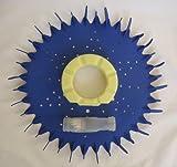 Zodiac Baracuda G3 G4 Finned Seal/disc, Diaphragm, Foot Pad (Yellow) Parts Kit
