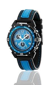 Sector R3271697135 - Reloj para niños de cuarzo, correa de textil color azul claro