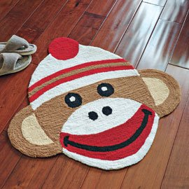 "29 1/2"" Classic Sock Monkey Accent Rug"