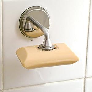 acier inoxydable et aluminium magn tique porte savon ventouse cleaner than un porte savon. Black Bedroom Furniture Sets. Home Design Ideas
