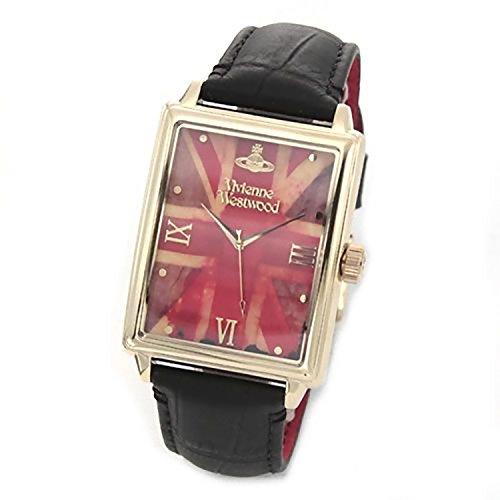 Vivienne Westwood ヴィヴィアンウエストウッド 腕時計 ヴィヴィアン風パンキッシュ ユニオンジャック レザーストラップウオッチ VV066GDBK ゴールド 【並行輸入品】