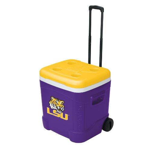 Igloo NCAA LSU Ice Cube Roller Cooler (60 Quart, Purple/Yellow)