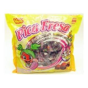 Vero Pica Fresa Chili Strawberry Flavor Gummy Mexican Candy