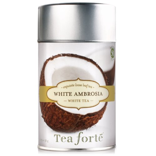 Tea Forte Loose Leaf Tea Canister-White Ambrosia