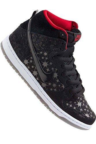 Nike Sb Dunk High Premium Sb (Black/Blackvaliant Red) Men'S Skate Shoe10.5