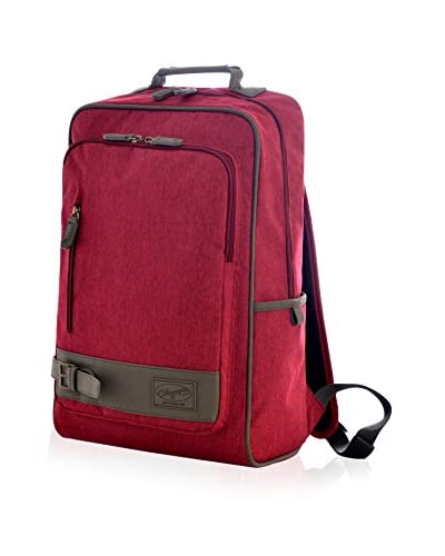 Olympia Apollo 18 Laptop Backpack, Maroon Red