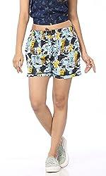 Abony Women's Multicolor Cotton Short (Size:S)