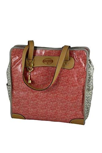 Borsa Donna Shopping Bag FOSSIL ZB5609616 Colore Rosso Tomato