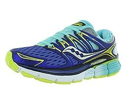 Saucony Women\'s Triumph ISO Running Shoe, Twilight/Oxygen/Citron, 8 M US