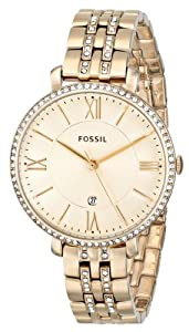 Fossil Women's ES3547 Jacqueline Analog Display Analog Quartz Rose Gold Watch