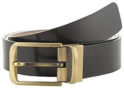 Jackblack Men's Synthetic Leather Belt (SEVP027, Black, 32)