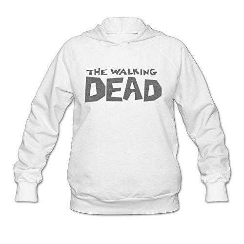 SAMMOI The Walking Movie Dead Men's Sport Hooded Sweatshirt S White