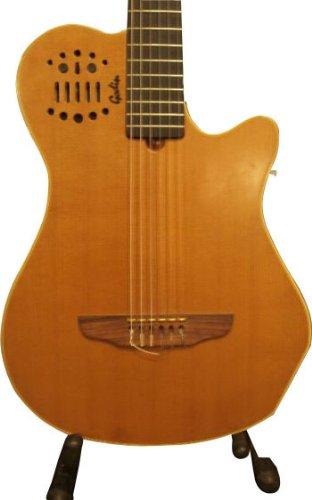 Godin Multi Oud Series 036493 10-Strings Hollow-Body Nylon Fretted Electric Guitar, Sunburst Hg